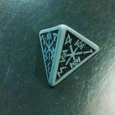 Power dwarven d4 #dice #rpg #roleplaying #pathfinder #pathfinderrpg #dungeonsanddragons #dungeonmaster #polyhedraldice #geek #nerd #qworkshop #dice #diceporn #dwarven by sebastianprv http://ift.tt/20nD63v