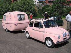 Vintage Caravan with FIAT 500                                                                                                                                                      More