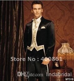 Custom Made High Quality Ivory Black Gold Collar Suits Formal Groom Tuxedo For Coat+Pants+Vest+Tie Size S 4xl S146415 Mens Dress Wear Mens Formal Jackets From Lindabridal, $110.56| Dhgate.Com