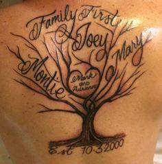 Family Tree Tattoo Tree Tattoo Pinterest Tattoos Family