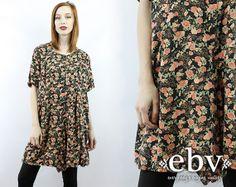 #Vintage #90s #Grunge Black Floral Shorts #Romper S M by #shopEBV http://etsy.me/1jPFBHP via @Etsy #etsy #fashion #style , $38.00