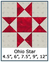 Ohio Star quilt block--several variations also