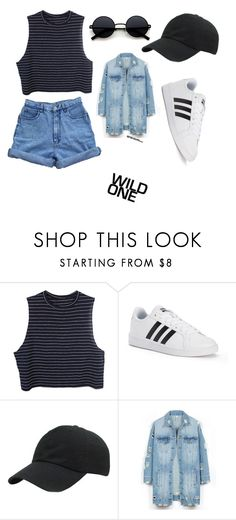 """Untitled #67"" by corywalton on Polyvore featuring adidas and LE3NO"