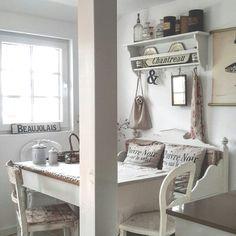 Ich liebe diese kleine Ecke in unserer Küche (...auch wenn wir dort viel zu selten sitzen)               Weiter geht es mit einigen  aktue...