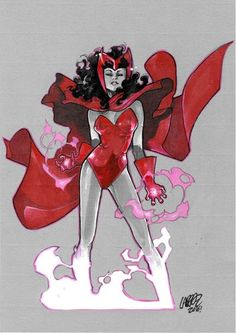 Scarlet Witch by Olivier Coipel * Comic Book Characters, Marvel Characters, Comic Character, Comic Books Art, Character Design, Marvel Comics, Marvel Art, Marvel Heroes, Marvel Avengers