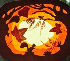 Podzimní les - průsvit na okno - Basteln - The Dallas Media Autumn Crafts, Christmas Crafts, Waldorf Crafts, Shadow Puppets, Autumn Forest, Fall Projects, Window Art, Ribbon Crafts, Art Club