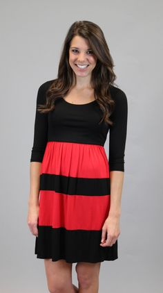 Red And Black All Over #shopacutabove #dress