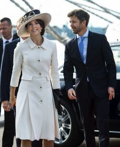 Danish HRH Crown Prince Frederik and HRH Crown Princess Mary attend the naming ceremony for Maersk Line's new super container ship.
