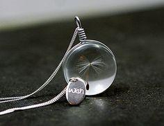 925 Make ONE Wish Einführungspreis Echtsilber von Villa Sorgenfrei - Schmuck aus Naturmaterialien. Uhren, Medaillons und mehr. auf DaWanda.com