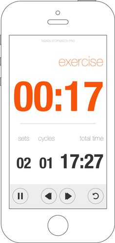 Tabata Stopwatch Pro = Beautiful, comprehensive, simple and efficient. Tabata Stopwatch Pro is a complete interval timer for people who are serious about their workouts. Use your mobile devices to augment and stay on track with all your workouts. You'll love it. Tabata, Ios App, App Design, Workouts, Ipad, Track, Simple, Beautiful