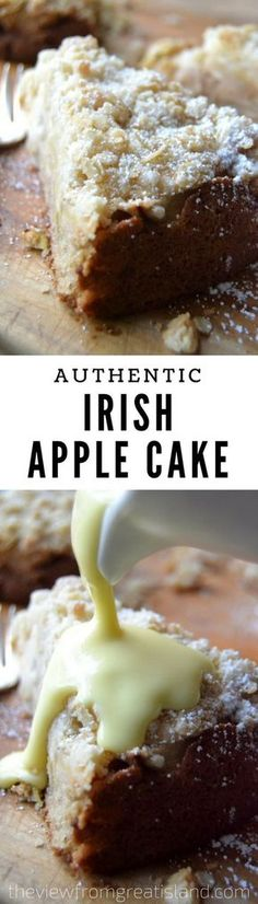 This is an authentic old fashioned Irish apple cake, the kind that would be made throughout the apple harvest season all over Ireland, where every farmhouse has its own prized version of the recipe. #cake #irishapplecake #applecake #irishrecipe #breakfastcake #dessert #fallbaking #apples