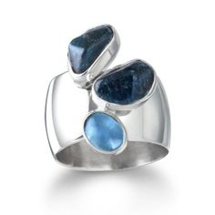 Apatite and Blue Topaz Sterling Silver Ring