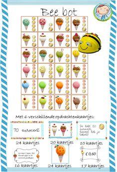 Bee bot ijsjes kaarten – Weg van onderwijs 21st Century Skills, Robot, Doodles, Coding, Kids, Programming, Blue, Young Children, Boys