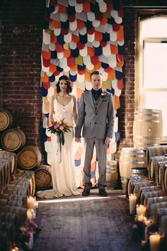 Incorporate accent colors into your ceremony with this backdrop.