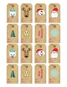 Christmas Gift Tags, Xmas Cards, Christmas Holidays, Christmas Decorations, Diy And Crafts, Paper Crafts, 242, Gift Tags Printable, Diy Weihnachten