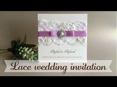 Invitación con encaje - Lace wedding invitation - YouTube