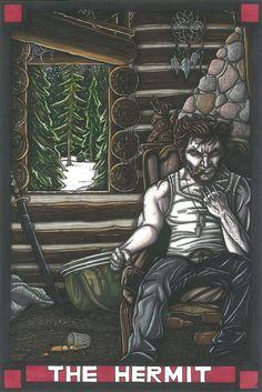 MARVEL Tarot Wolverine postcard PRINT by MaiafirePrints on Etsy, £1.89