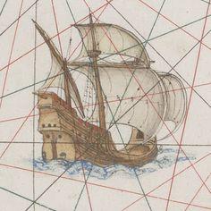 Quiquengrogne à Dieppe: Les nefs de l'Atlas Vallard 1547