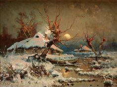 """""""Sun in Winter"""" 1898 by Julius Von Klever"""