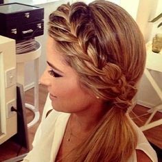 Side braid but with the bottom curled