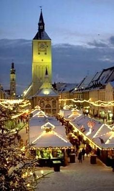 Christmas Market in Deggendorf, Germany. Must go! Johann Reininger, my ancestor, was born and lived here until he was 29.