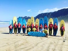 The Best days of #surf on the beach famara --- @lasantaprocenter  #surfcamp #surflessons #surflanzarote #surfcanarias #surfcoach http://ift.tt/SaUF9M