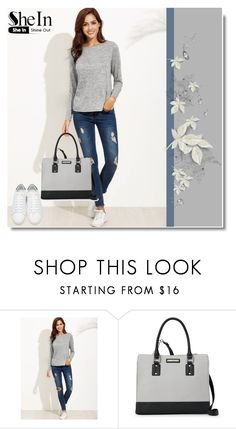 """Shein"" by dina123-1 ❤ liked on Polyvore featuring Nine West and Yves Saint Laurent"