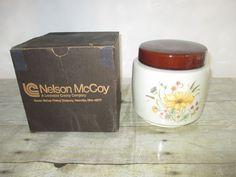 Nelson Mccoy Ceramic Floral Cookie Jar/Canister #214