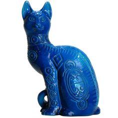 Large Blue Ceramic Cat Большой синий керамический Cat  ЦЕНА:Продан МЕСТО ПРОИСХОЖДЕНИЯ:Италия ДАТА ПРОИЗВОДСТВА:1960-е годы СРОК:1960-1969 МАТЕРИАЛЫ И МЕТОДЫ:керамический МАТЕРИАЛЫ ПРИМЕЧАНИЯ:глазурованные керамические СОСТОЯНИЕ:Очень хорошее состояние. ВЫСОТА:25 в. (63 см) ШИРИНА:18 в. (46 см) ГЛУБИНА:12 в. (30 см) ДИЛЕР МЕСТО:Kensington, MD   1stdibs.com