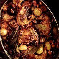 Pheasant Braised in Gin and Juniper