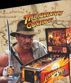 """Indiana Jones pinball machine is based on the adventures of the fictional archaeologist Dr. Henry Walton """"Indiana"""" Jones, Jr. Indy extends his whip-wielding adventure in Indiana Jones:"""