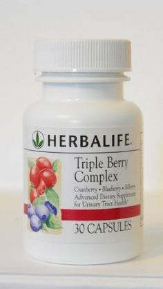 Herbalife - Triple Berry Complex by Herbalife. $16.99. Provides the benefits of cranberries without the sugar and calories of cranberry drinks.. Blueberries are one of the best sources of antioxidants, including beta carotene and vitamin C.. Blueberry offers antioxidant support and promotes eye health.. Recent studies reveal that substances found in the cranberry may help combat urinary-tract infection. Herbalife's Triple Berry Complex provides the concentrated power of berri...