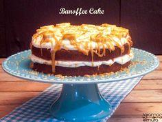 7gramas de ternura: Banoffee Cake ou um Bolo de Banana e Toffe para o M.
