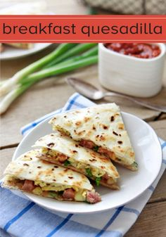 A Breakfast Burrito Quesadilla is the perfect easy meal to make for breakfast or a quick weeknight dinner.