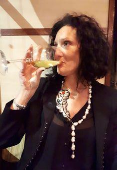 """Fatto a mano Galliana collana di perle e inserto """"piuma """"di conteria..."""