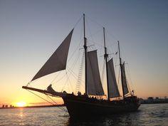 Tall Ship Kajama last summer Amazing Race, Sail Away, Tall Ships, Cover Photos, Sailing Ships, Toronto, Cruise, Lighthouses, Boating