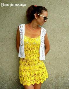 crochet easy and beauty summer dress