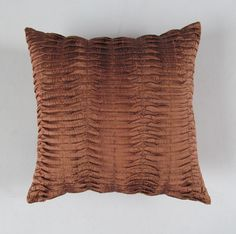 STOCK CLEARANCE 20% OFF-light brown pillow cover 16 inch textured silk decorative throw pillow-2 in stock