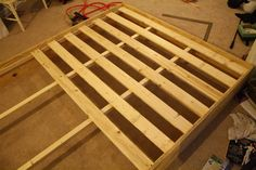 DIY Platform Bed: Almost There and Living in Style - * View Along the Way *