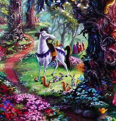 Thomas Kinkade Disney | Sleeping Beauty (Disney Dreams VIII) by Thomas Kinkade 12x18 ...