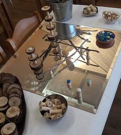 Natural loose Parts provocation #hyggeintheearlyyears #hygge #reggio #reggioinspired #playbasedlearning