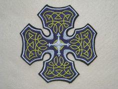 Celtic Cross Maltese Cross Iron on Patch by ReginasFrontPorch, $8.95