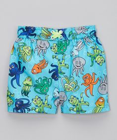 Another great find on #zulily! Blue Octopus Swim Trunks - Infant, Toddler & Boys by Mick Mack #zulilyfinds