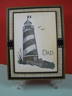 Lighthouse Father's Day Card by newell601 on Etsy, $5.25
