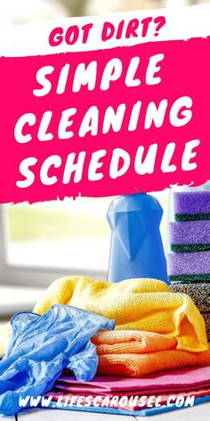 Simple Cleaning Schedule for Busy People - Home Cleaning Routine Weekly Cleaning, Deep Cleaning Tips, House Cleaning Tips, Spring Cleaning, Cleaning Hacks, Speed Cleaning, Window Cleaner Recipes, Cleaning Schedule Templates, Cleaning Schedules