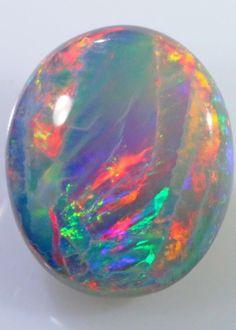 Dark Opal (Semi Black) 12 x 10 x 3mm 2.9 carats Auction #598757 Opal Auctions #Rainbows