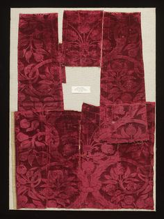 Woven silk Place of origin: Milan, Italy Date: 1490-1525 Materials and Techniques: pile-on-pile silk velvet Museum number: 593-1884 | V&A