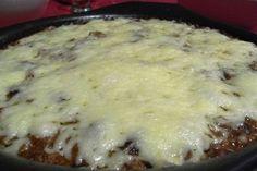 Gratinado de carne picada, tomate y queso