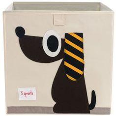 Decoración Infantil - Cesto cuadrado perro