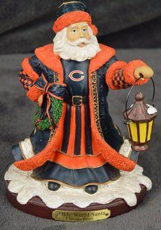"Chicago Bears Olde World Santa 2003 The Memory Company EUC 7.5"" *FREE SHIPPING* #TheMemoryCompany #ChicagoBears Nfl Fans, Chicago Bears, Santa, Memories, Free Shipping, World, Children, Christmas, Ebay"